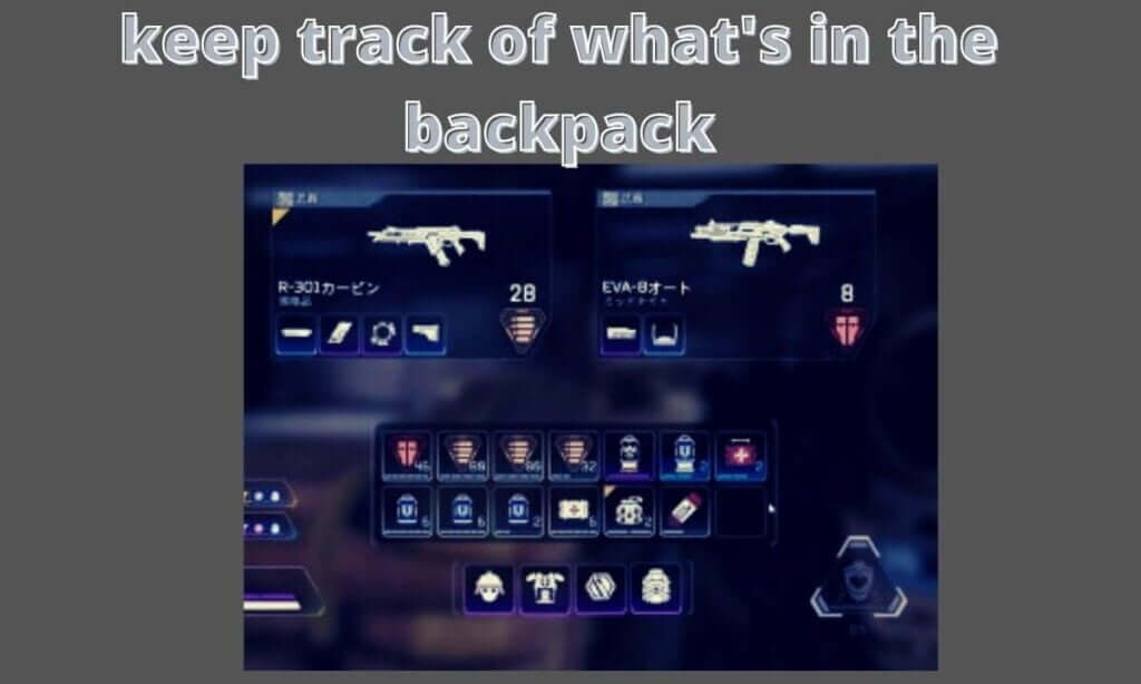 keep track of what's in the backpack